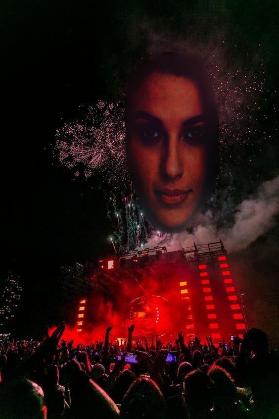Woman rave